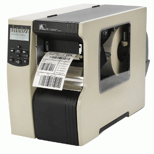 Zebra 110Xi4 - 600 DPI, USB+RS232+Printserver, int. navíječ s odlepovačem