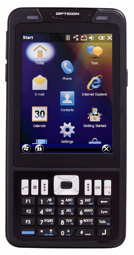 Opticon H22 1D rugged terminal with WM 6.5, BT, GSM/GPRS, WLAN, GPS, RFID (13.56 MHz), numeric keypad