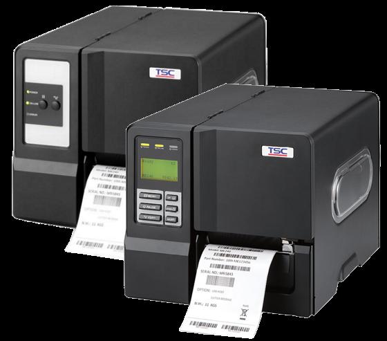 TSC ME340-E-LCD Průmyslová tiskárna čárových kódů, LAN+USB Host