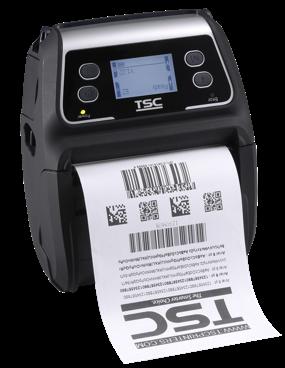 TSC Alpha-4L Mobilní tiskárna čárových kódů, 203 dpi, 4 ips, WLAN+Bluetooth, LCD