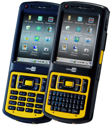 CipherLab CP55-L Industrial Mobile Computer, CE7.0, laser, Wi-Fi, RFID, QVGA, GPS, camera, numeric keyb., USB
