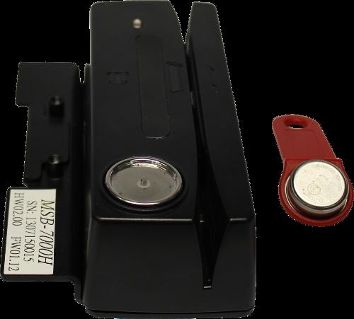 Birch Čtečka magnetických karet a iButton čipů pro A8TS a IT-7000, černá