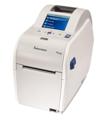 "Honeywell PC23d - DT desktop barcode printer, 203DPI, USB, 2 ""LCD"