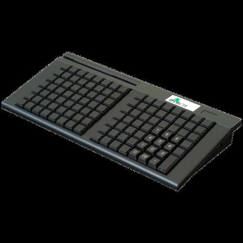 Birch PKB-111 Pokladní USB, 111 kláves, 2st. MSR, černá
