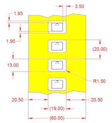 Alien UHF RFID tag, ALN-9613 Small Item Higgs 3, 19mm x 13mm, nalepovací