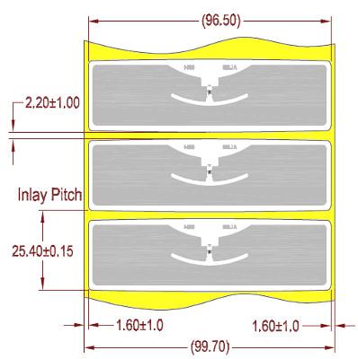 "Alien UHF RFID tag, ALN-9654-FWRW Higgs-3 ""G"", 22mm x 96mm, nalepovací"