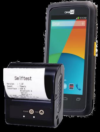 CipherLab Mobile Set den robusten Smartphone und Quittungsdrucker
