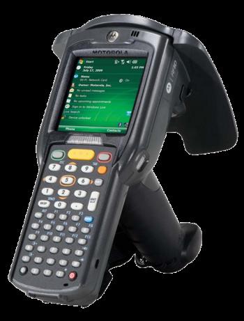 Zebra MC3190-Z Industrial mobile computer, laser, RFID, Wi-Fi, QVGA, WEH, pistol