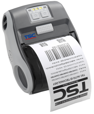 TSC Alpha-3R Mobile Bar Code Printer, 203 dpi, 4 ips, Bluetooth, with RTC