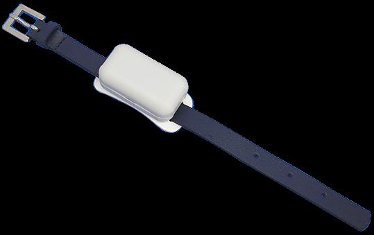 UHF RFID semiaktivní tag na tělo, s páskem a sponou