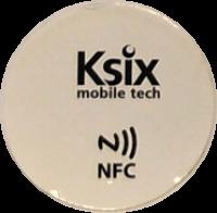NFC/ISO14443 label, 13.56 MHz, white, NTAG203, diameter 3 cm