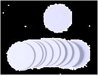 NFC/ISO14443 plastic wheel, 13.56 MHz, white, NTAG215, diameter 2,5 cm