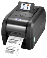 TSC TX200 Stolní TT tiskárna čárových kódů, 203 dpi, LCD, 8 ips, LAN+USB+RS232, RTC, slot pro BT/WF, tmavá