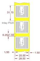 Alien UHF RFID tag, ALN-9629-FWRW Square Higgs 3, 26mm x 26mm, nalepovací