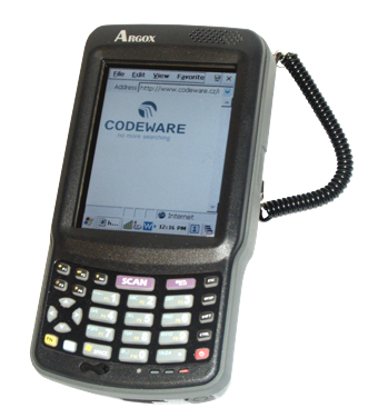 Argox PT-90 přenosný terminál, Laser, WinCE 6.0, WLAN, CPU PXA310 806 MHz, 256MB/256MB