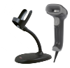 Honeywell 1470g Voyager XP handheld omnidirectional barcode reader, 1D, 2D, USB, black, with flexible stand