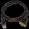 CipherLab 1x00 Kabel pro snímač RS232, 9pin, černý, DC jack