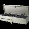 Birch POS-303 Pokladní zásuvka Flip-Top, vnitřní vložka se zamykatelným víkem, 6P24V, bílá