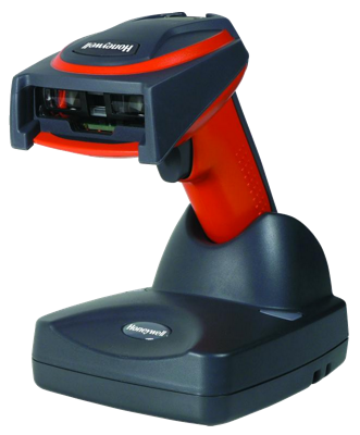 Honeywell 3820i USB Kit: industrial wireless barcode reader, base, power supply, USB cable