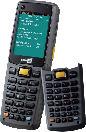 CipherLab CPT-8630C Mobile Terminal, CCD, WLAN, 8MB, 29 keys, USB, HC bat.