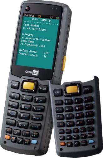CipherLab CPT-8630L Mobilní terminál, laser, WLAN, 8MB, 29 kl., USB