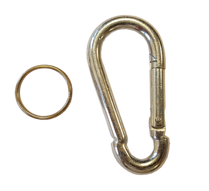 CipherLab Carabiner clip for 2560 with tether plate