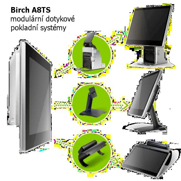 A8TS modulární dotykový pokladní systém