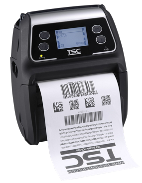 TSC Alpha-4L Mobile Bar Code Printer, 203 dpi, 4 ips, USB+WiFi