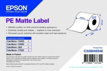 Epson TM-C3500 - PE etikety, matný povrch, role 102mm x 29m