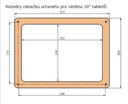 """C-Frame pro ENERGY Tablet Neo 10"""", nízký, černý"""