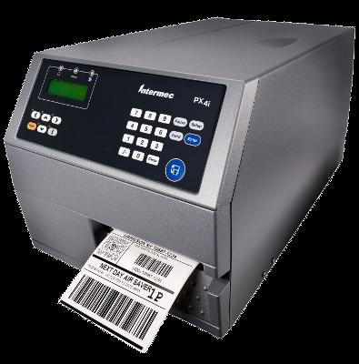Honeywell Intermec PX4i, Industrial barcode printer, 300dpi, LCD display, TT, DT, USB, Serial, LAN