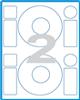 Print etikety průměr 118mm na CD-ROM, 2 ks, A4, 100 listů