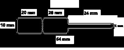 Samolepící etikety 20mm x 10mm, zlatnické bílé, 2000 et/kot.(cena za 1000 ks)