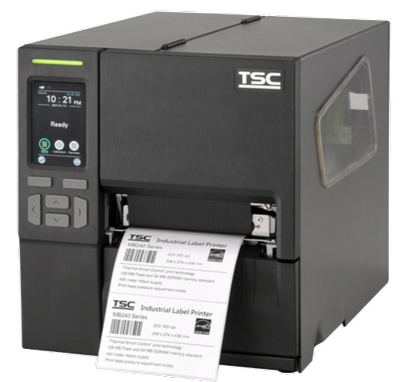 TSC MB340T Metal Industrial Bar Code Printer, 300 dpi, 6 ips, touch LCD