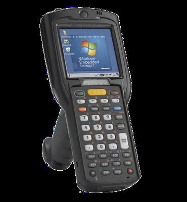 Zebra MC3200 - Přenosný terminál, GUN, 2D, Wi-Fi, BT, 38 kláves, Win CE 7.x, st. baterie