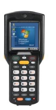 Zebra MC3200 - Přenosný terminál, laser, Wi-Fi, BT, 38 kláves, Win CE 7.x, st. baterie