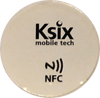 NFC/ISO14443 label, 13.56 MHz, white, NTAG203, diameter 3 cm