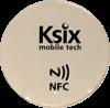 NFC/ISO14443 nálepka, 13,56MHz, bílá, NTAG203, průměr 3 cm