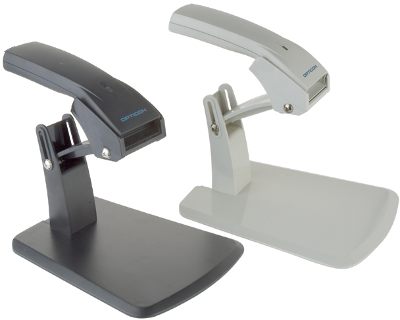Opticon OPL-6845 1D barcode scanner with stand, RS232, light
