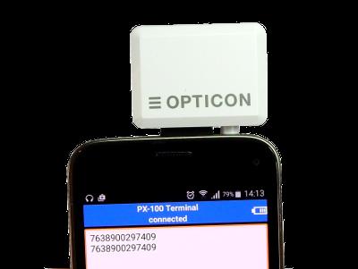 PX-100 s mobilním telefonem