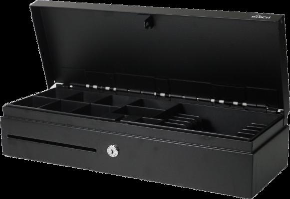 Pokladní zásuvka POS-303 FlipTop, černá, otevřená