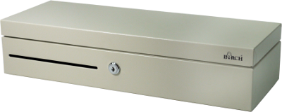 Birch POS-303 Cash Drawer Flip-Top, with lockable inner tray, 6P24V, white