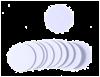 NFC/ISO14443 plastové kolečko, 13,56MHz, bílá, NTAG215, průměr 2,5 cm