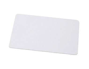Plastic ISO card with RFID chip 125 kHz, read only, white