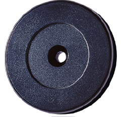 RFID ring 52 mm, black ABS EM4102