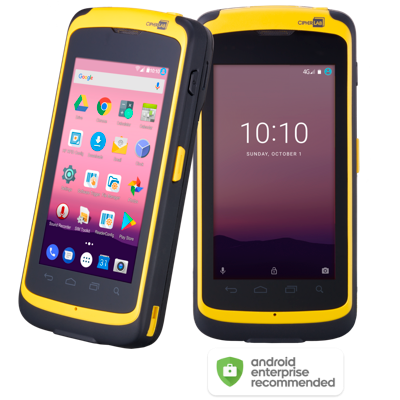 CipherLab RS51: Rugged Smartphone, Android, long 2D, WiFi dual band, WPAN, WWAN - 4G/LTE, RFID, NFC, 5300 mAh, USB Kit
