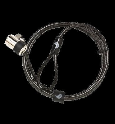 ES ClickSafe - Rovný kabel s jedním zámkem a kotevním bodem