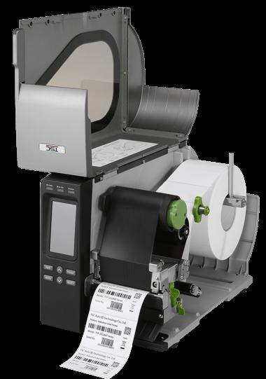 TSC TTP-2410M, průmyslová tiskárna čárových kódů, otevřená