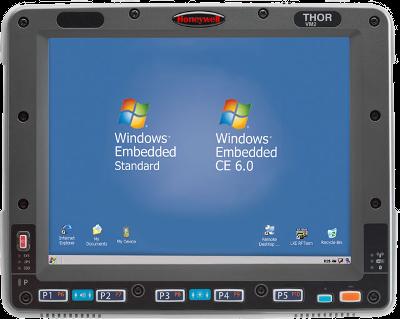 Honeywell Thor VM2, vozíkový terminál, WiFi, BT, Externí připojení WLAN antény, Windows 7, ETSI