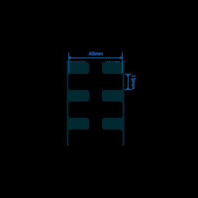 Zebra RFID štítek Silverline micro M4i, 45mm x 13mm, PET, 800 et/kot